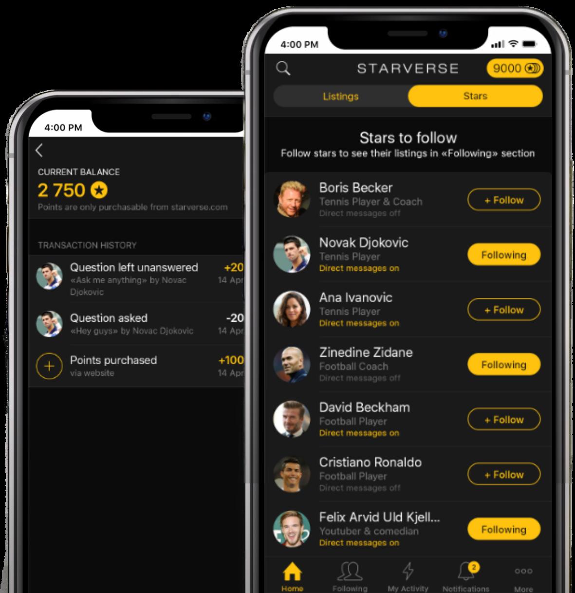 Starverse is Mobile App